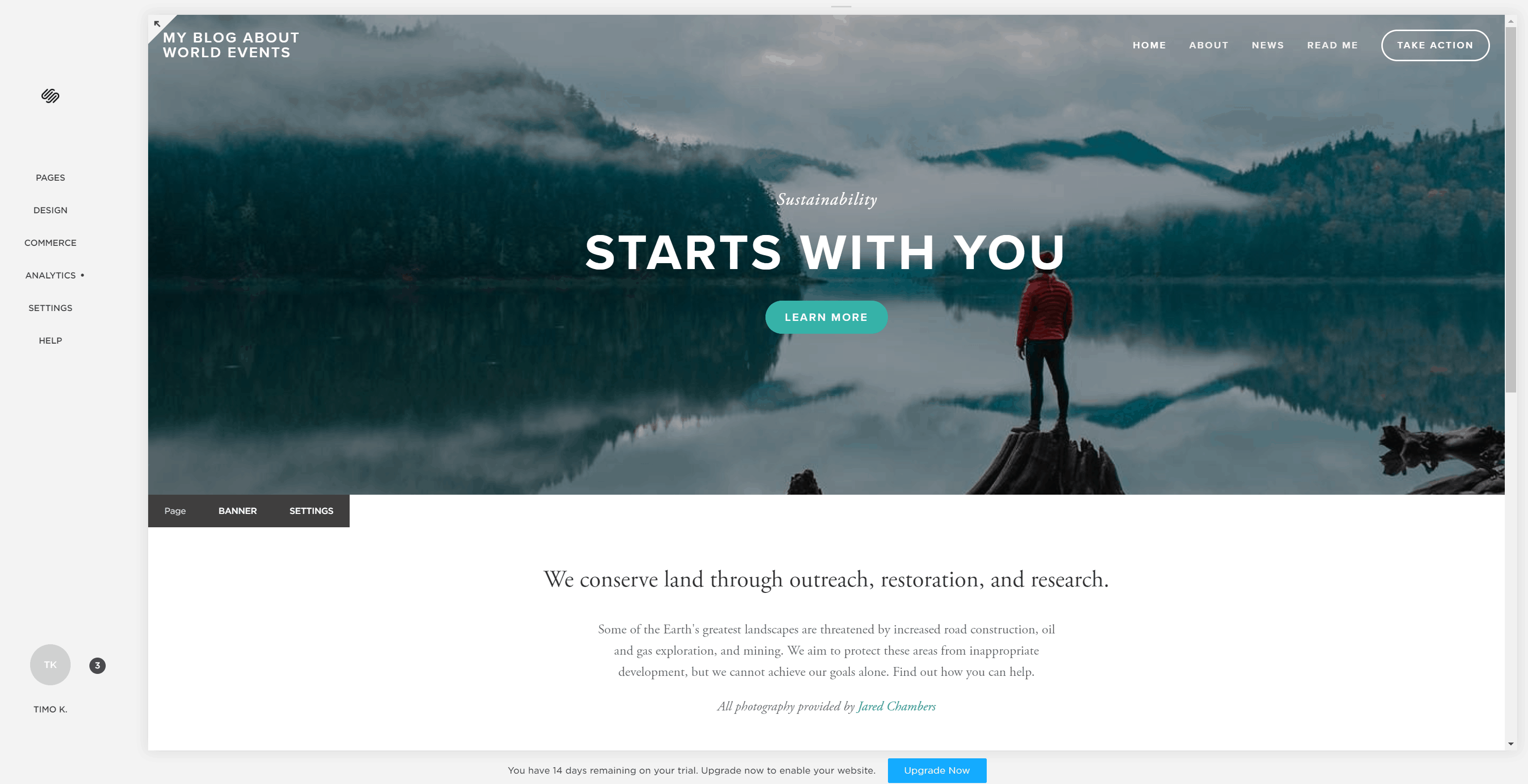 Squarespace - Initial site ready