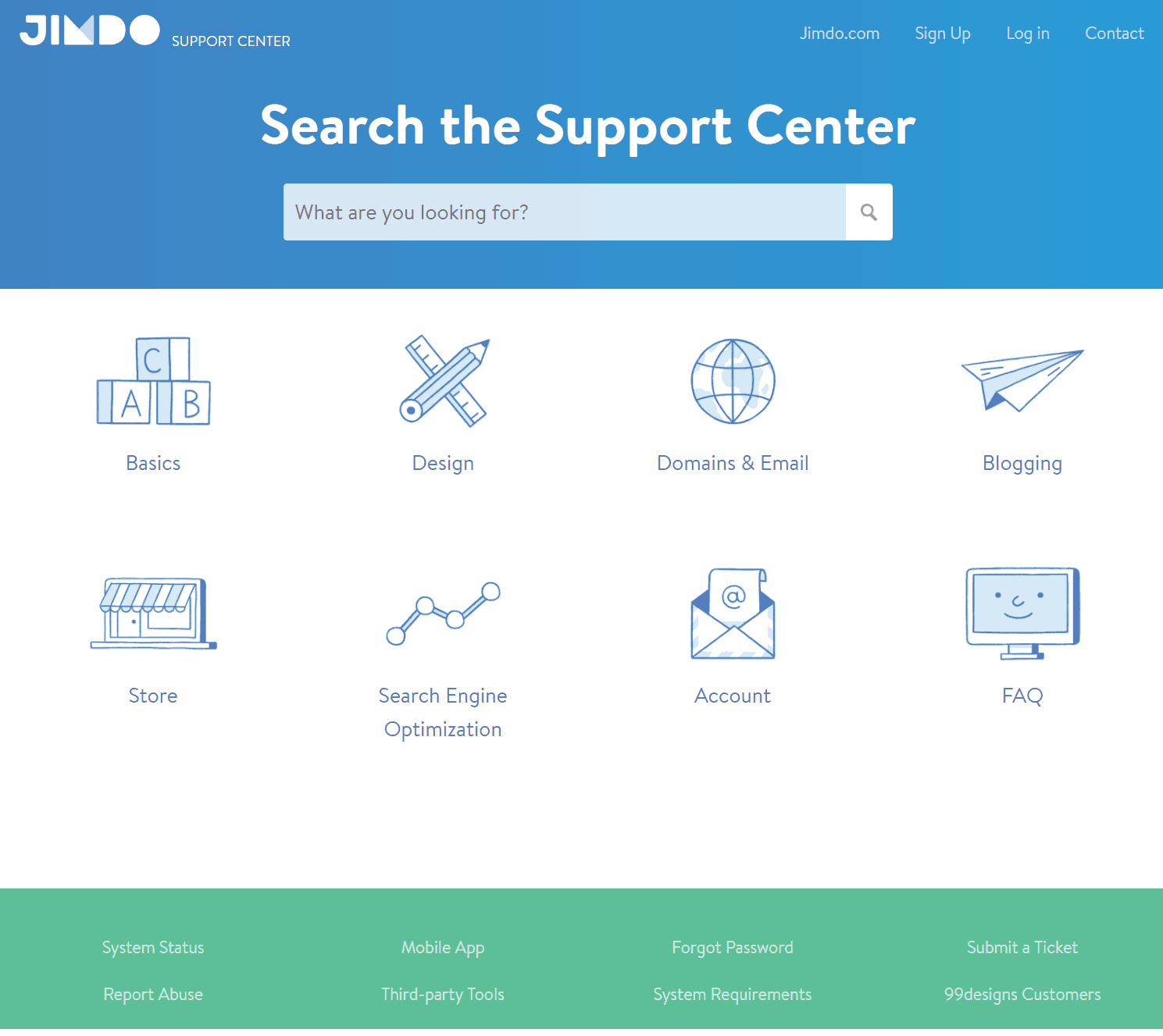Jimdo Support Center