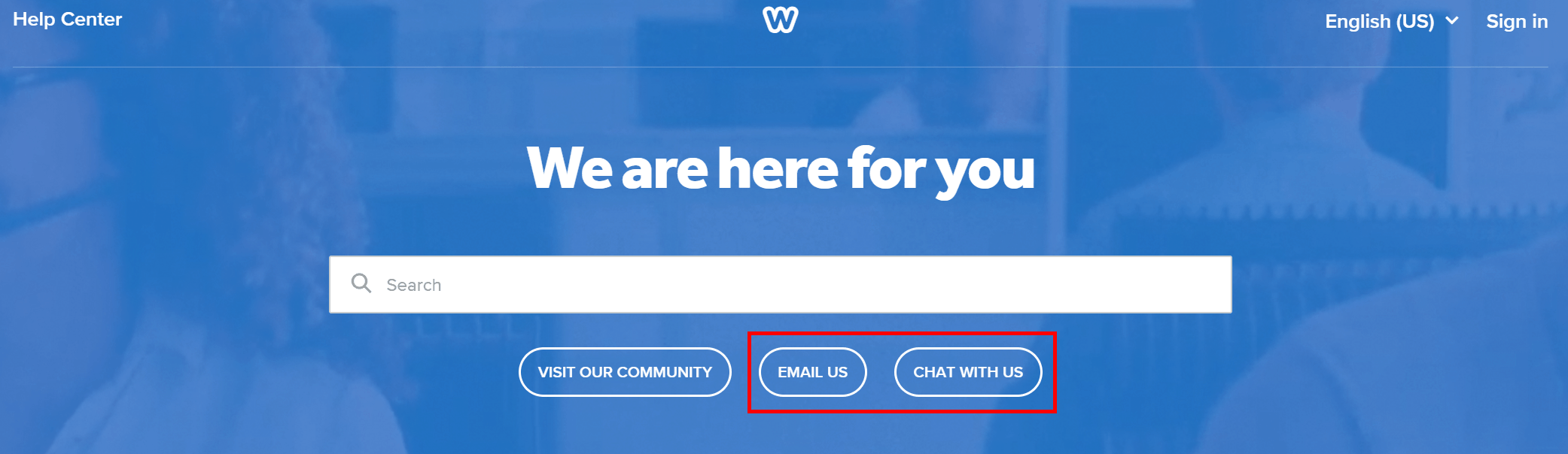 Weebly Support Buttons