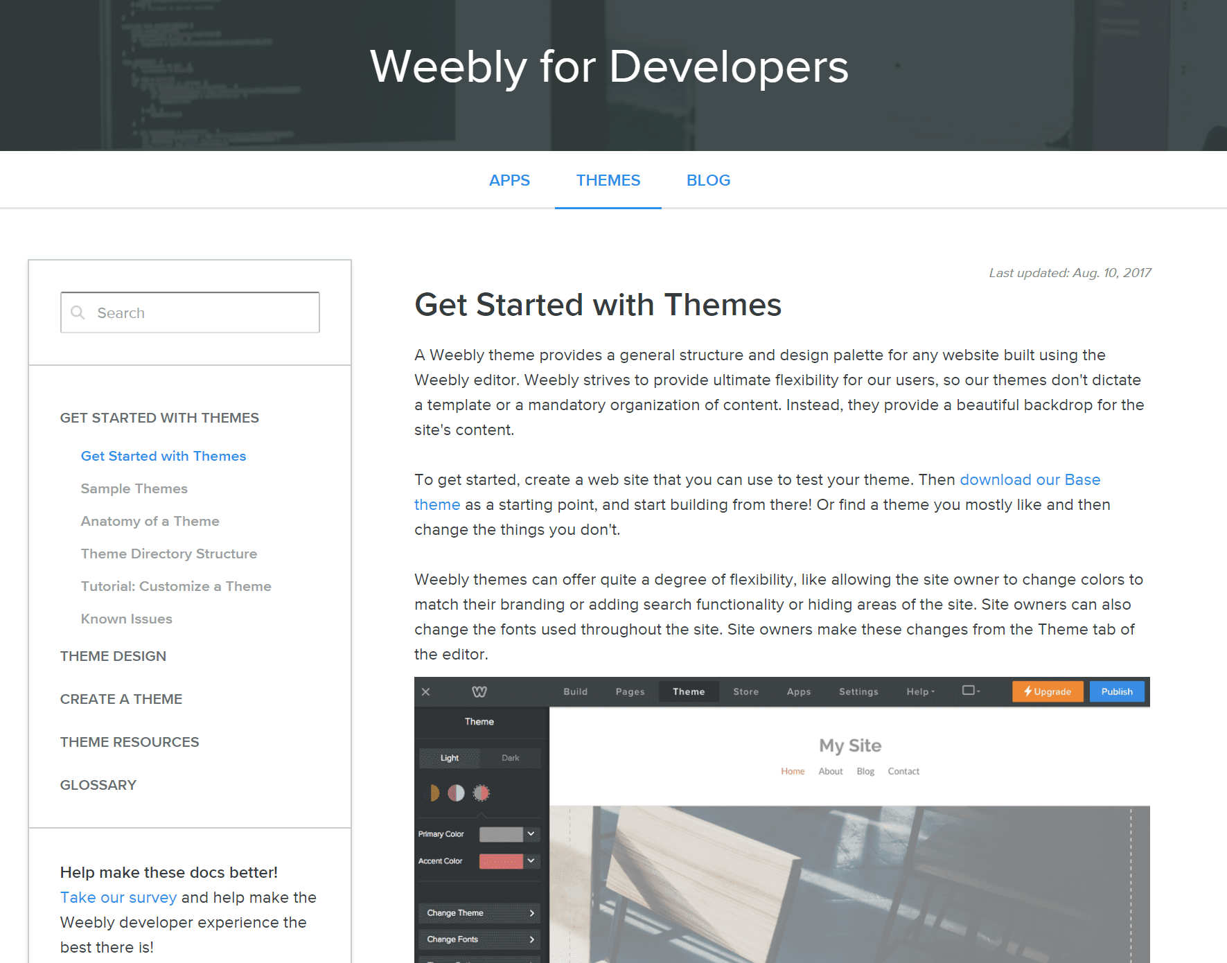 Weebly Developer Center