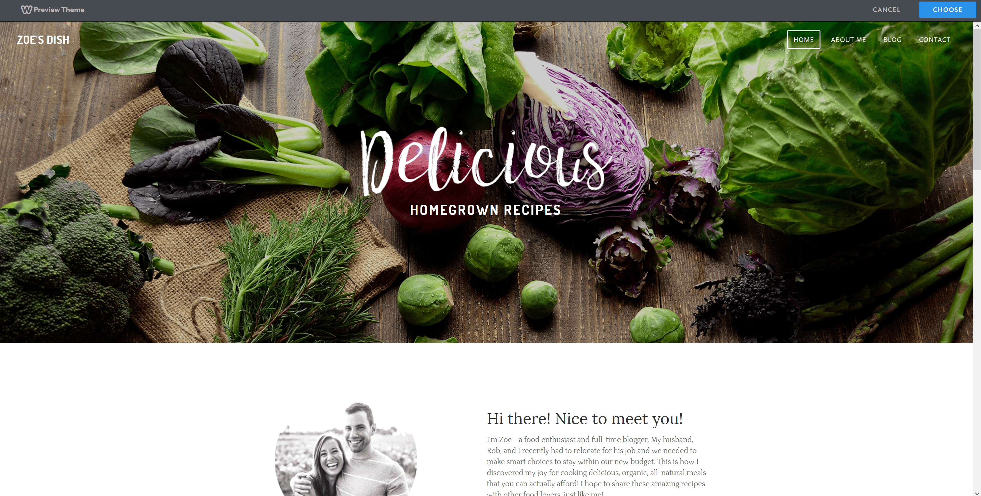 Weebly theme preview