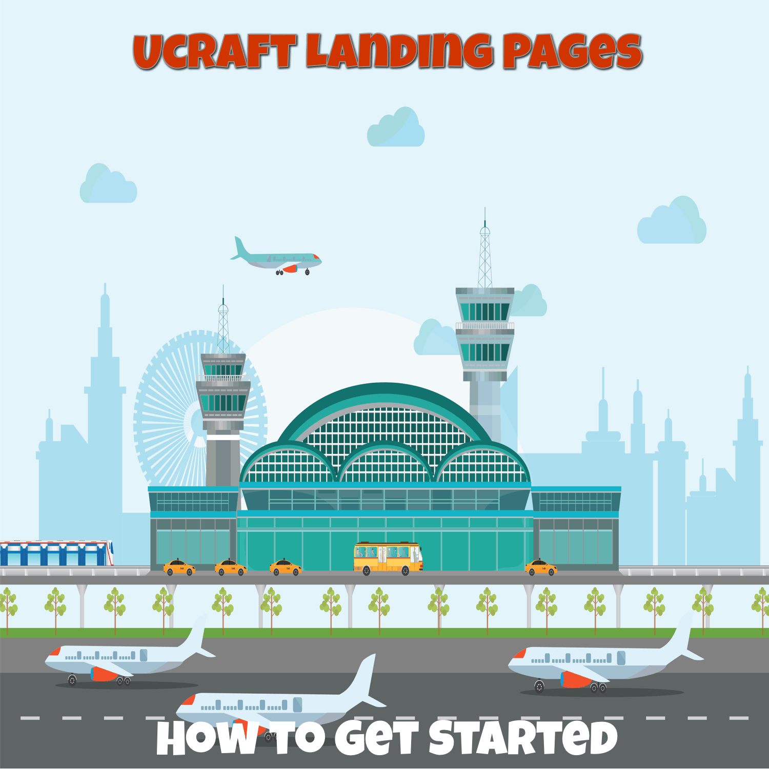 ucraft landing pages