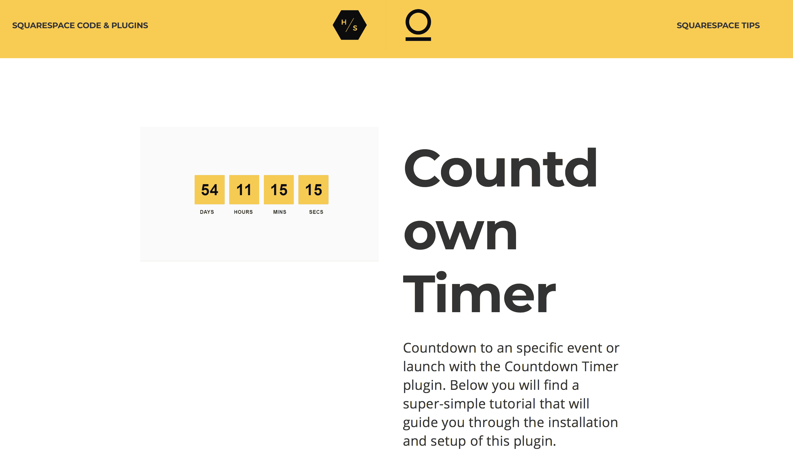 squarespace countdown timer