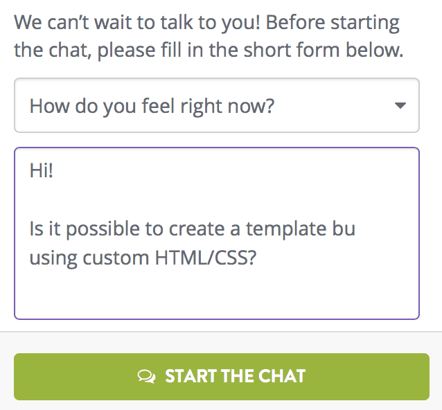 Strikingly Chat window