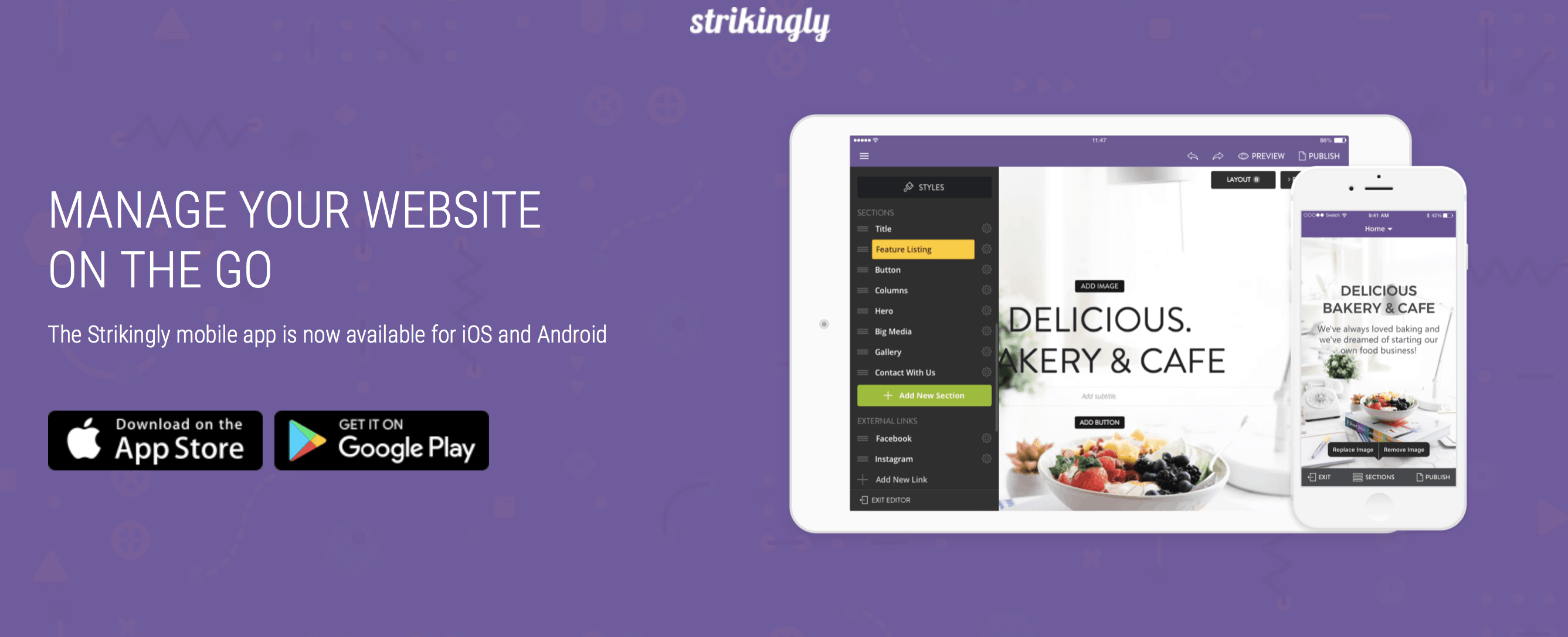 Strikingly Mobile app