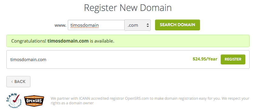 Strikingly Register a domain