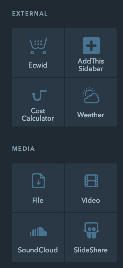 uKit Widget integrations