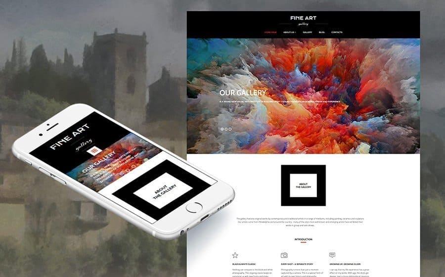 Art Gallery - Responsive Moto CMS 3 Template