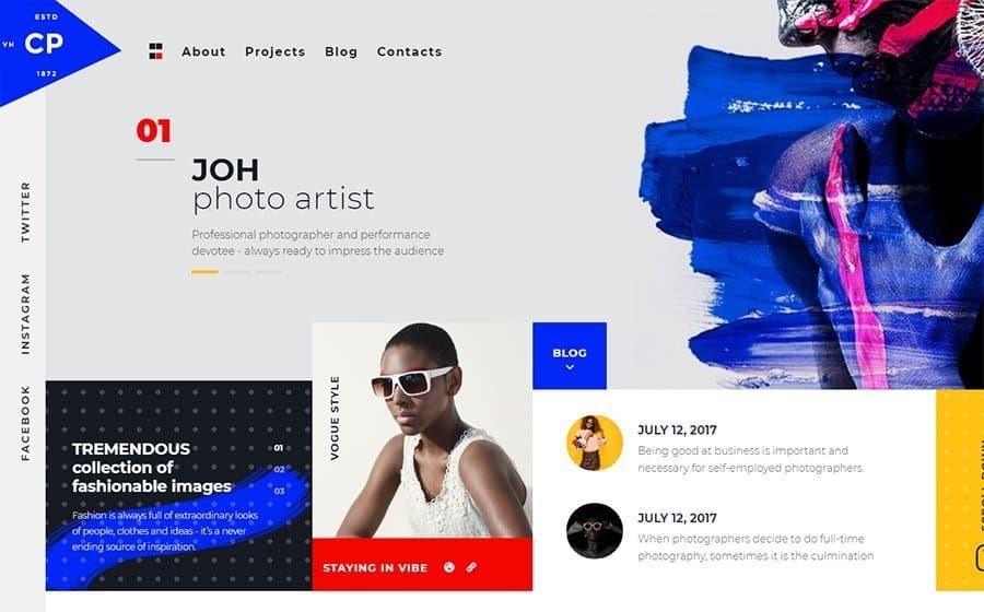 CPM - Creative Photographer Elementor WordPress Theme
