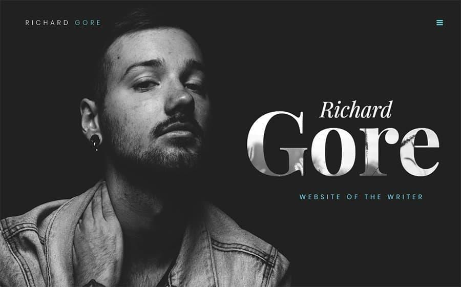 Richard Gore - Writer Portfolio Elementor WordPress Theme