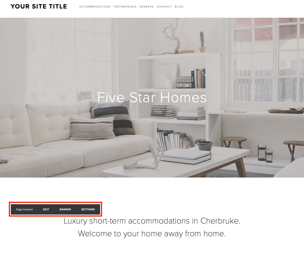 squarespace content area