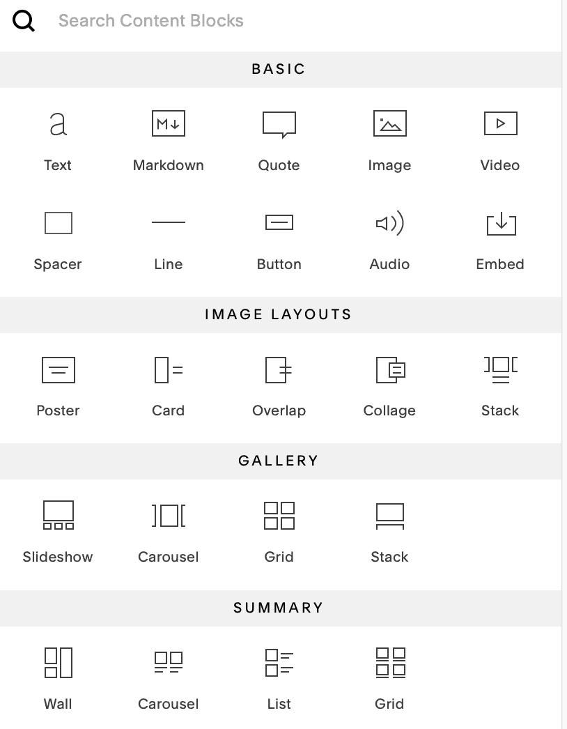 squarespace design elements