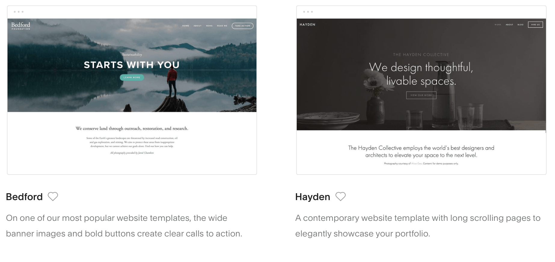 squarespace pick a template 1