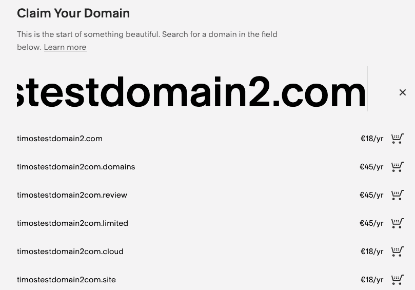 squarespace pricing domains