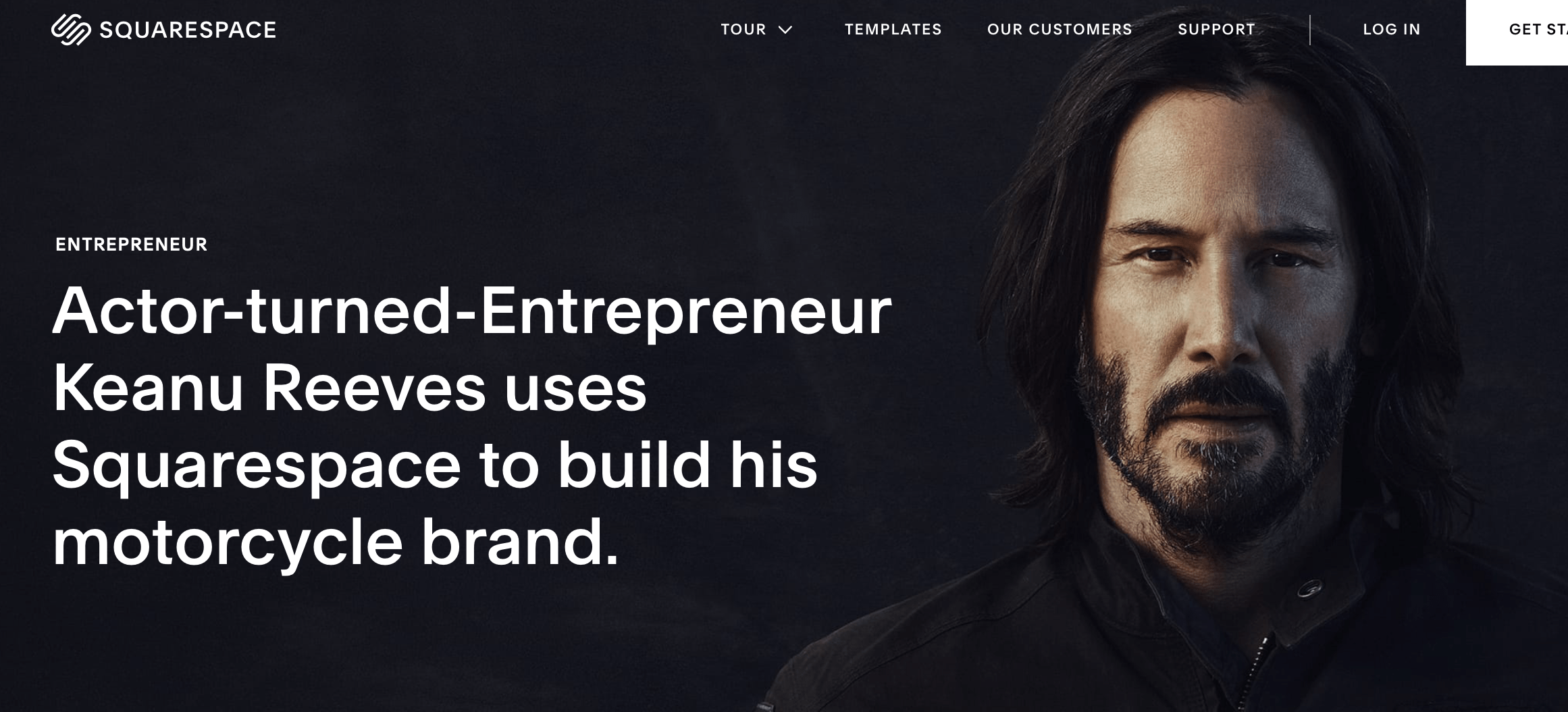 squarespace review keanu reeves
