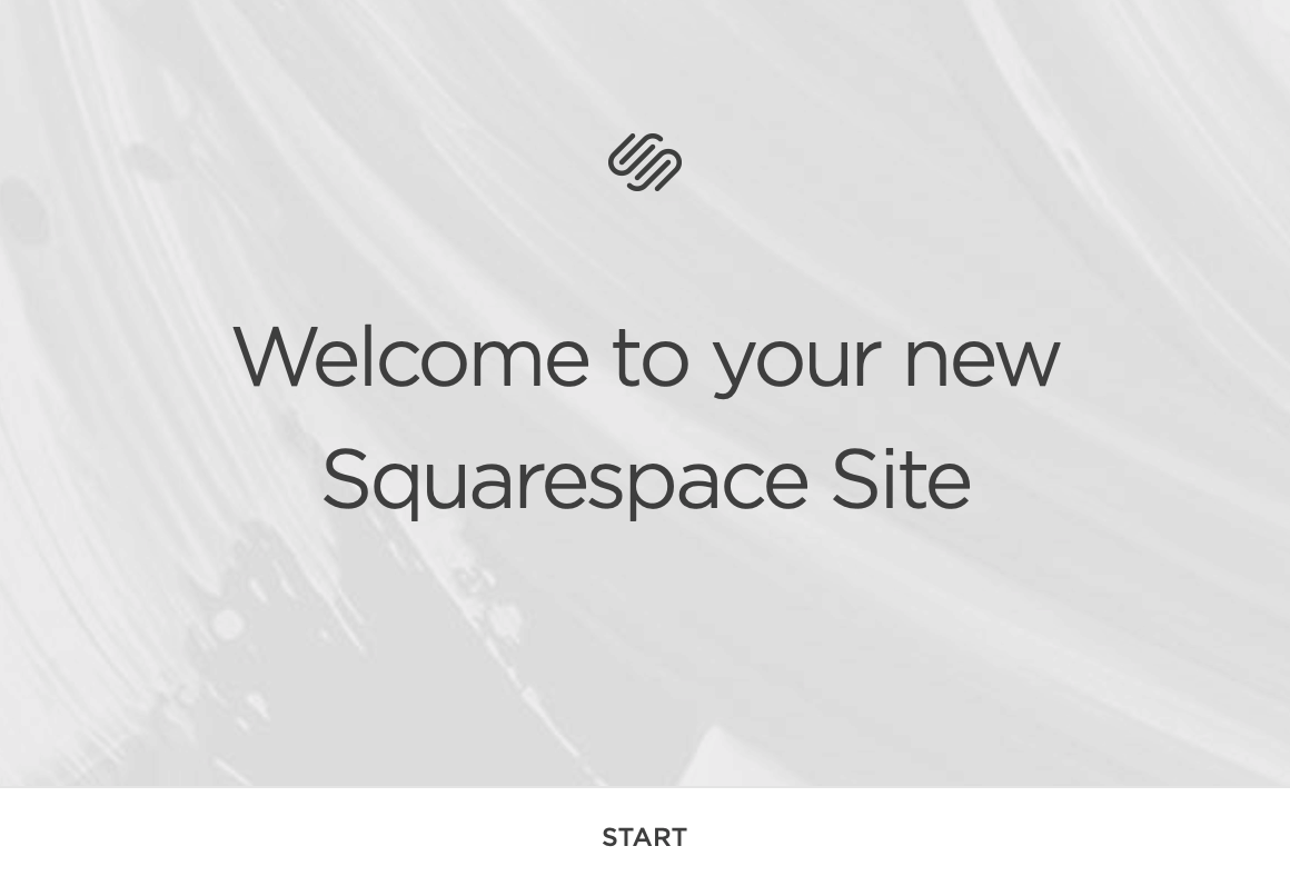 squarespace start screen