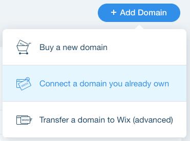 wix add custom domains