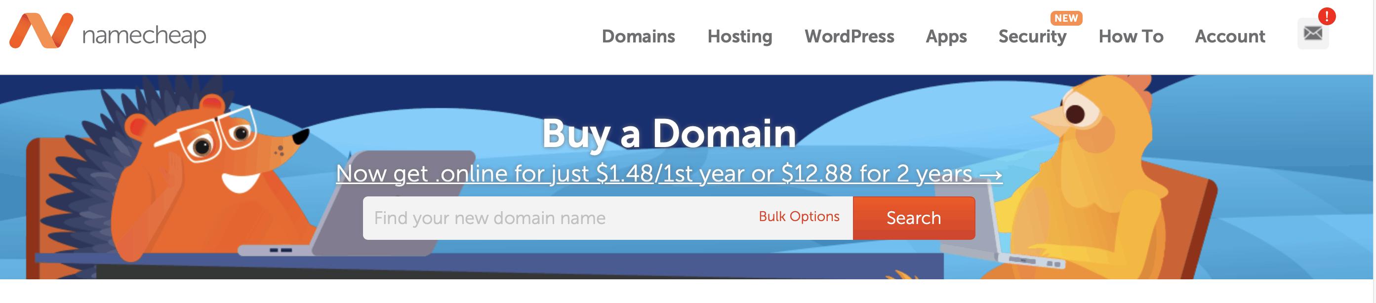 wix namecheap domain search form