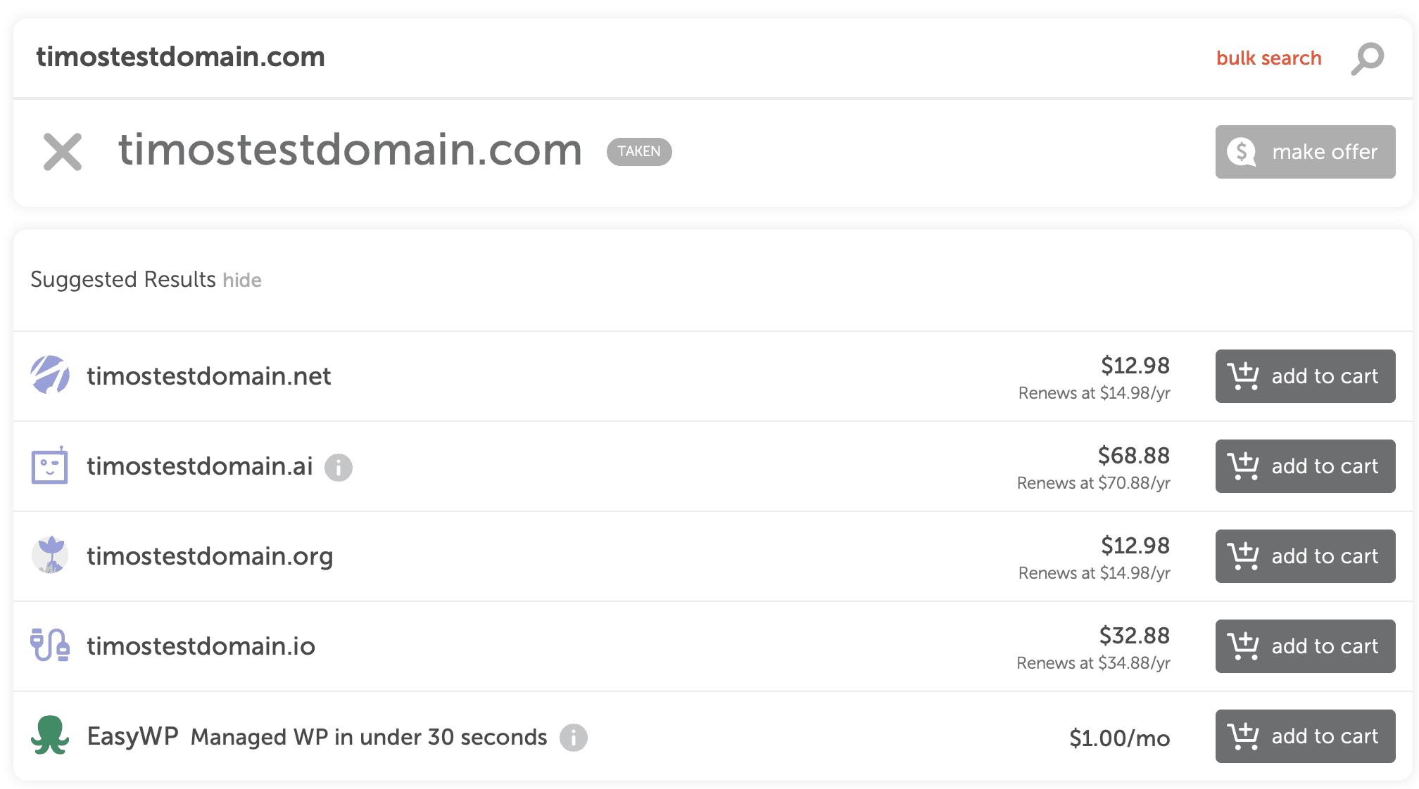 wix namecheap no results