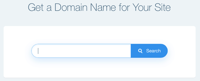 wix search for a domain