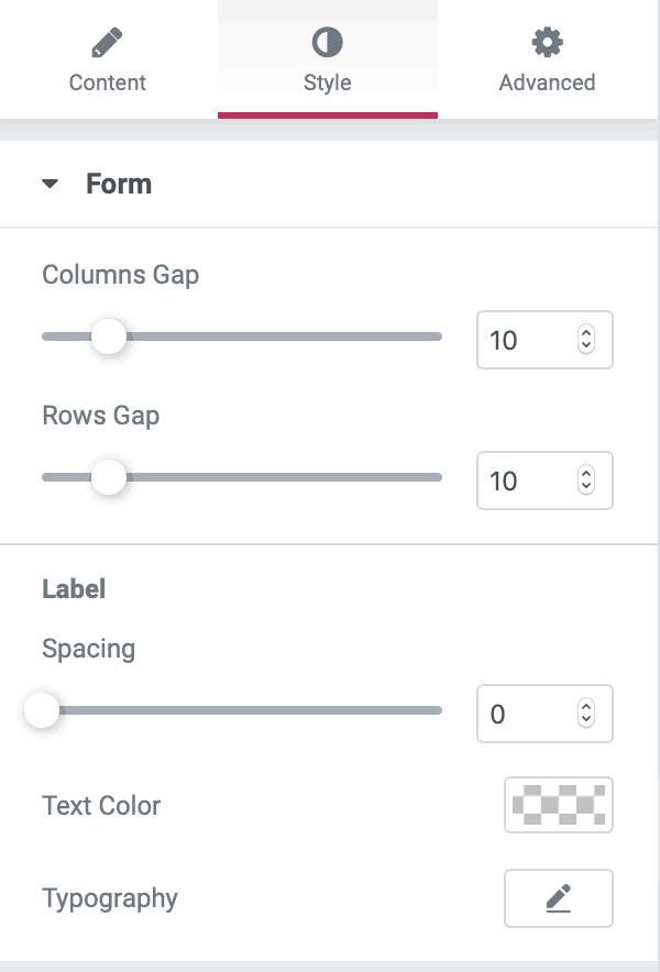 elementor context menu style