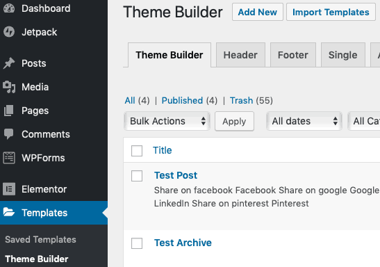 elementor import template 1