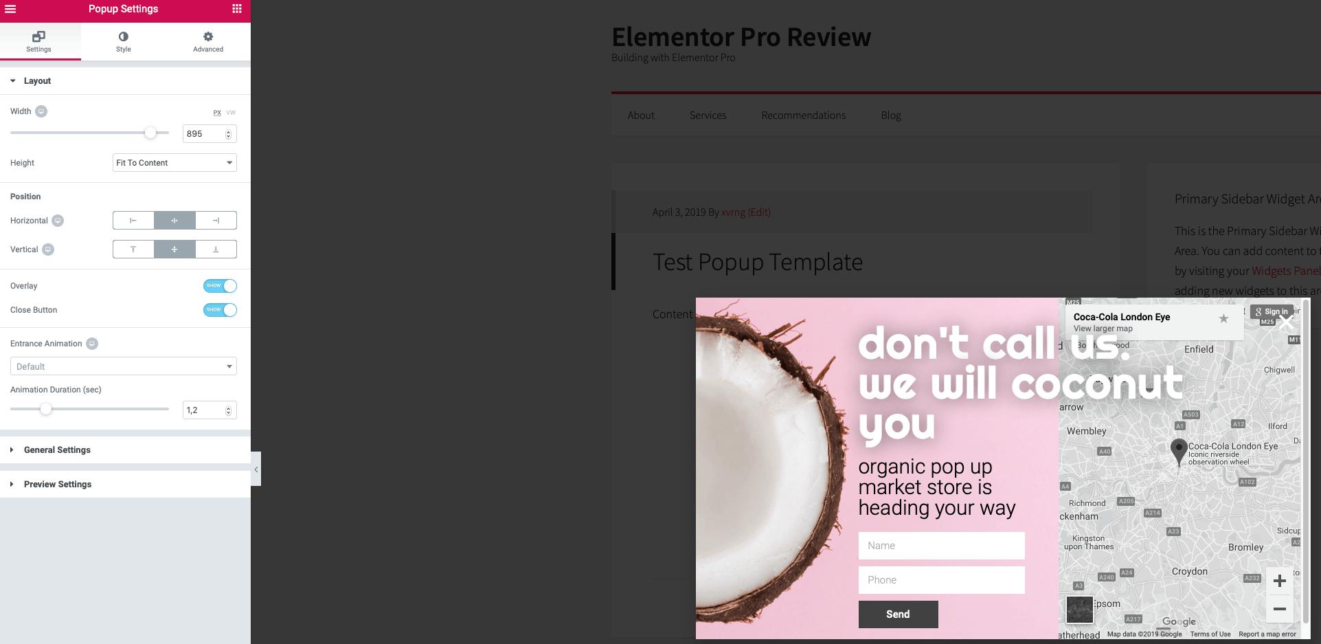 elementor pro review edit mode
