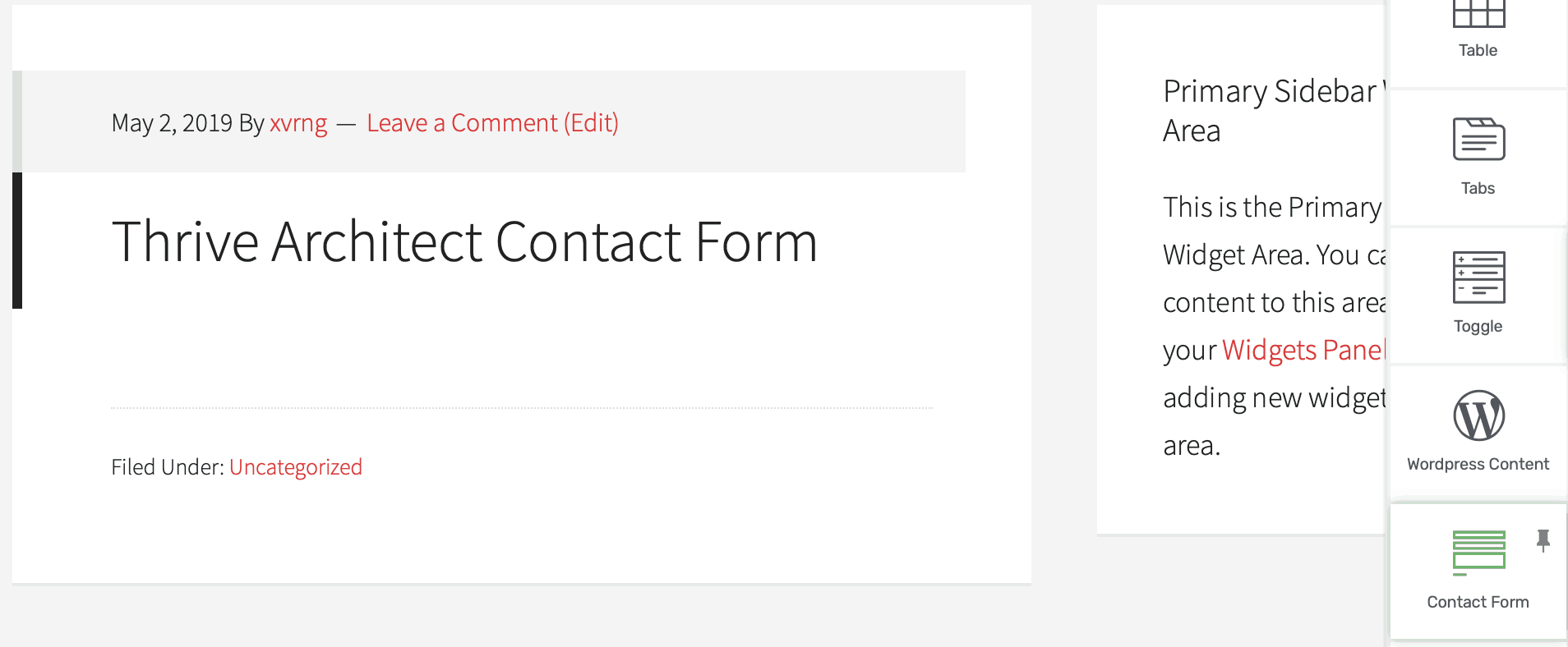 contact form icon