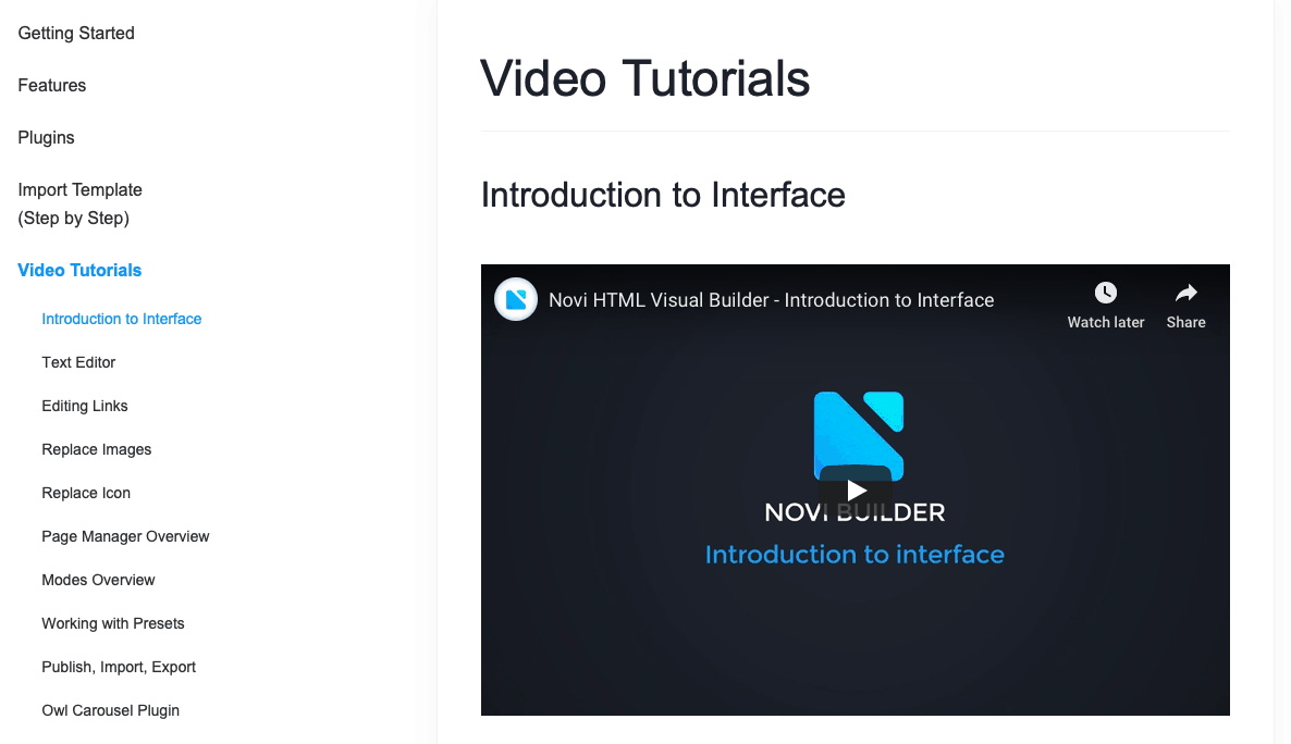 novi builder knowledge base