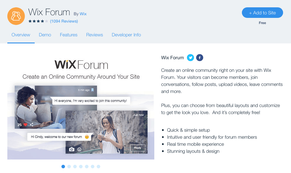Wix Forum Overview