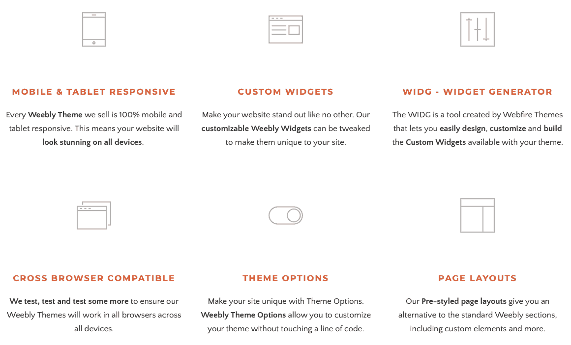 webfire themes features