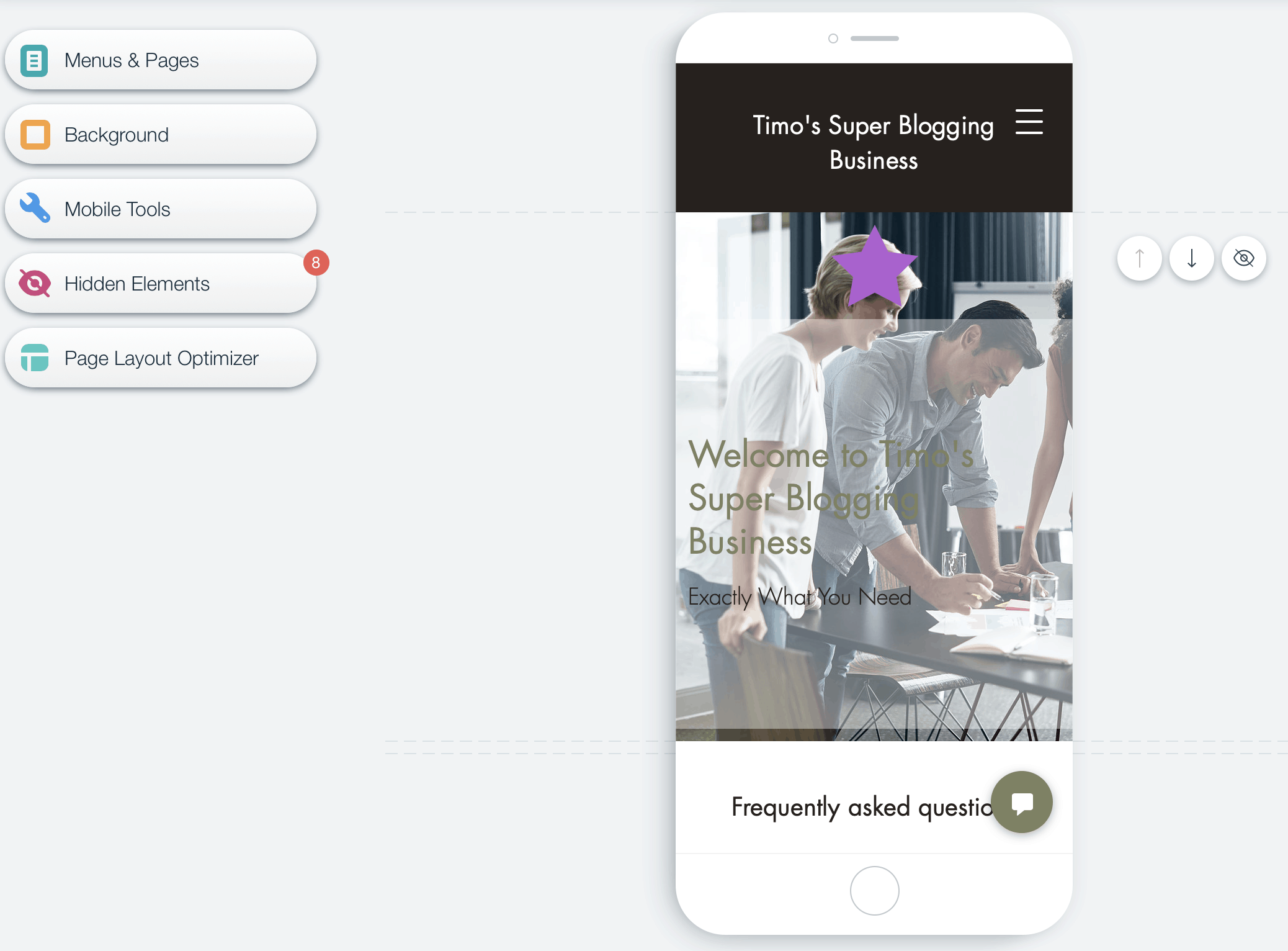 wix features mobile view
