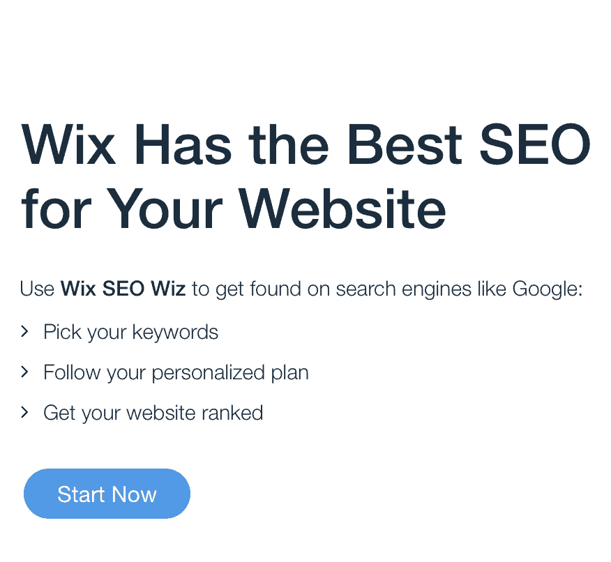 wix features seo wiz start