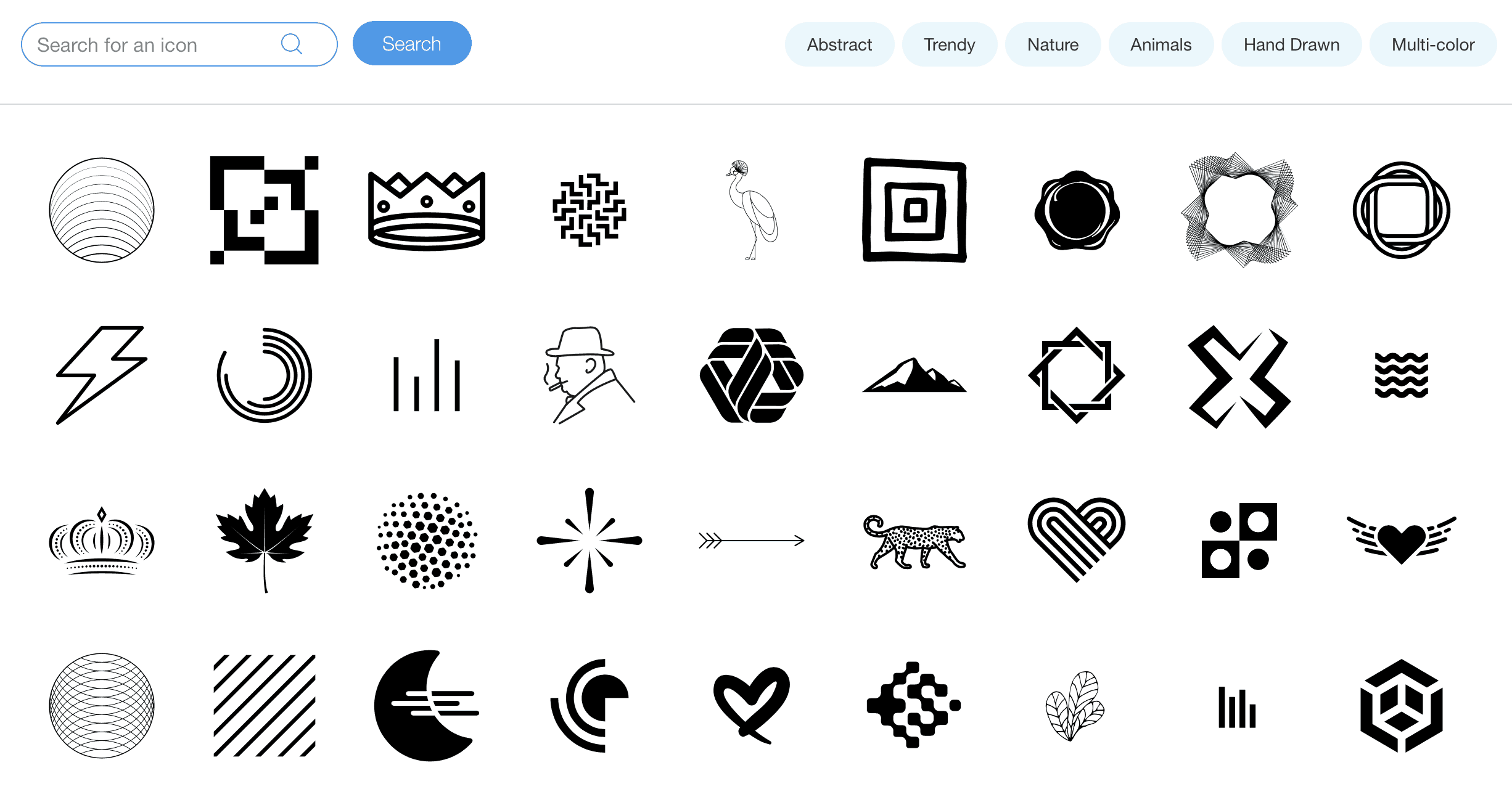 wix logo maker icons