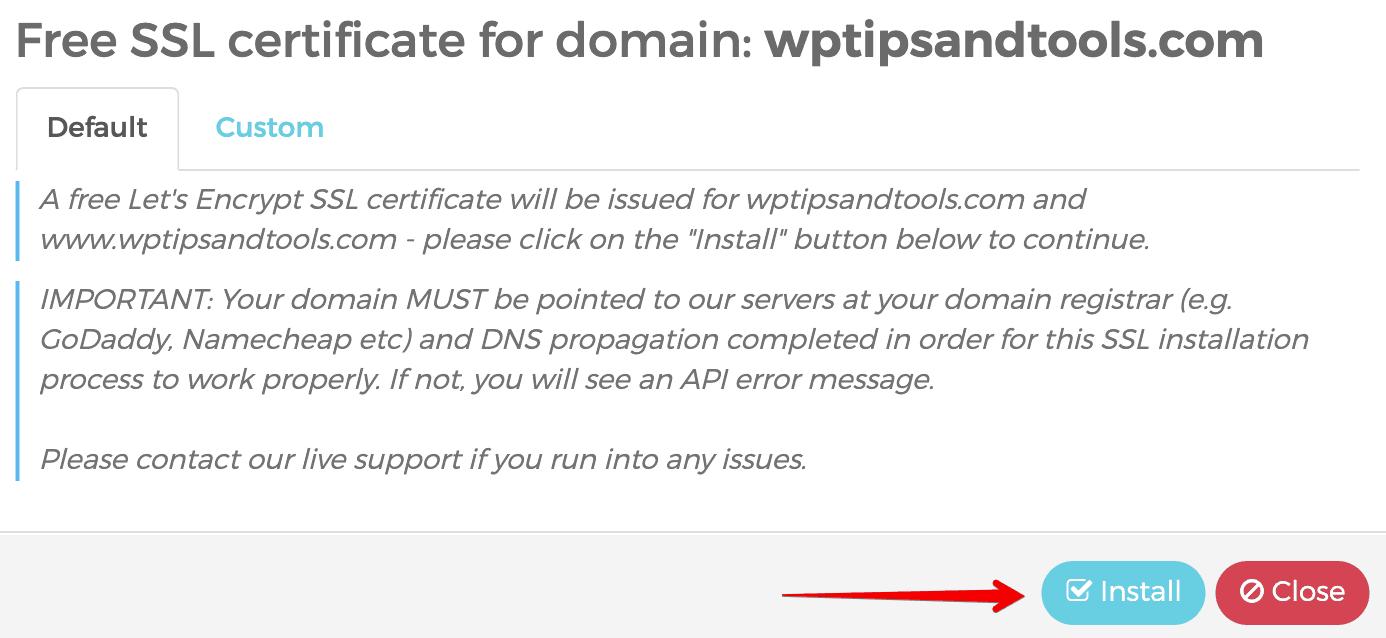 wpx hosting install ssl 2
