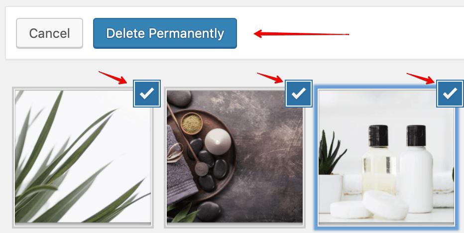 bulk select delete images