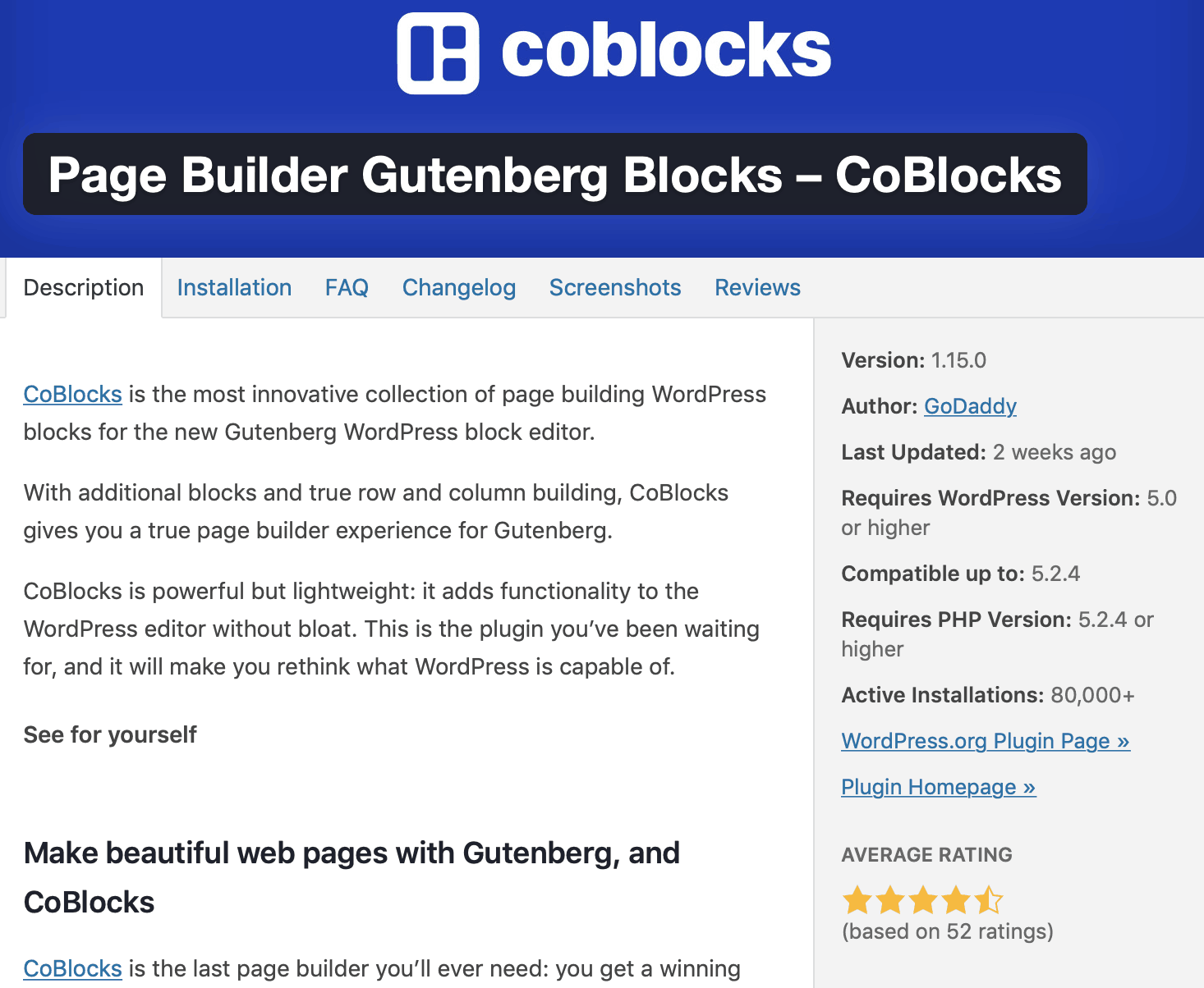 gutenberg blocks plugins coblocks