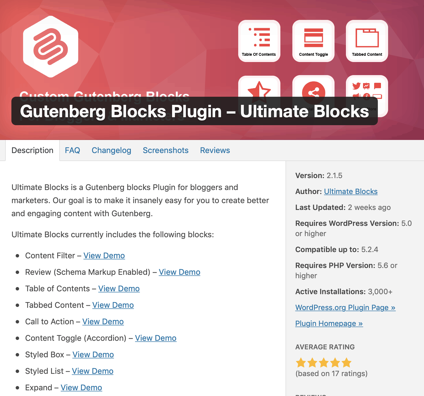 gutenberrg blocks plugin ultimate blocks