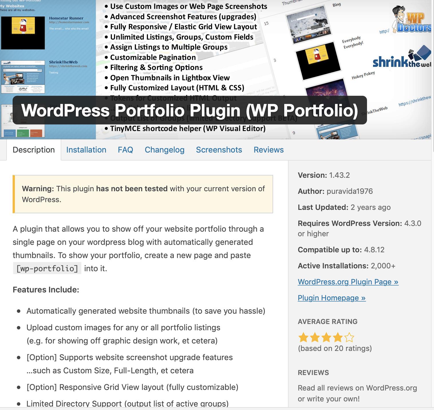wp portfolio
