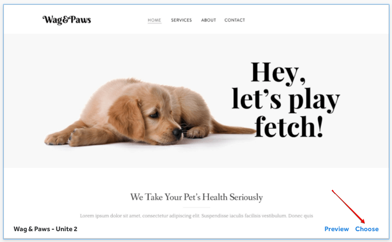 choose weebly theme