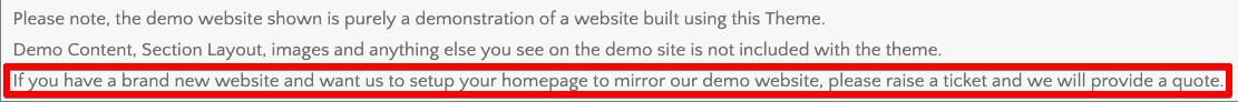 demo content disclaimer