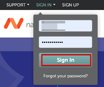 NameCheap sign in