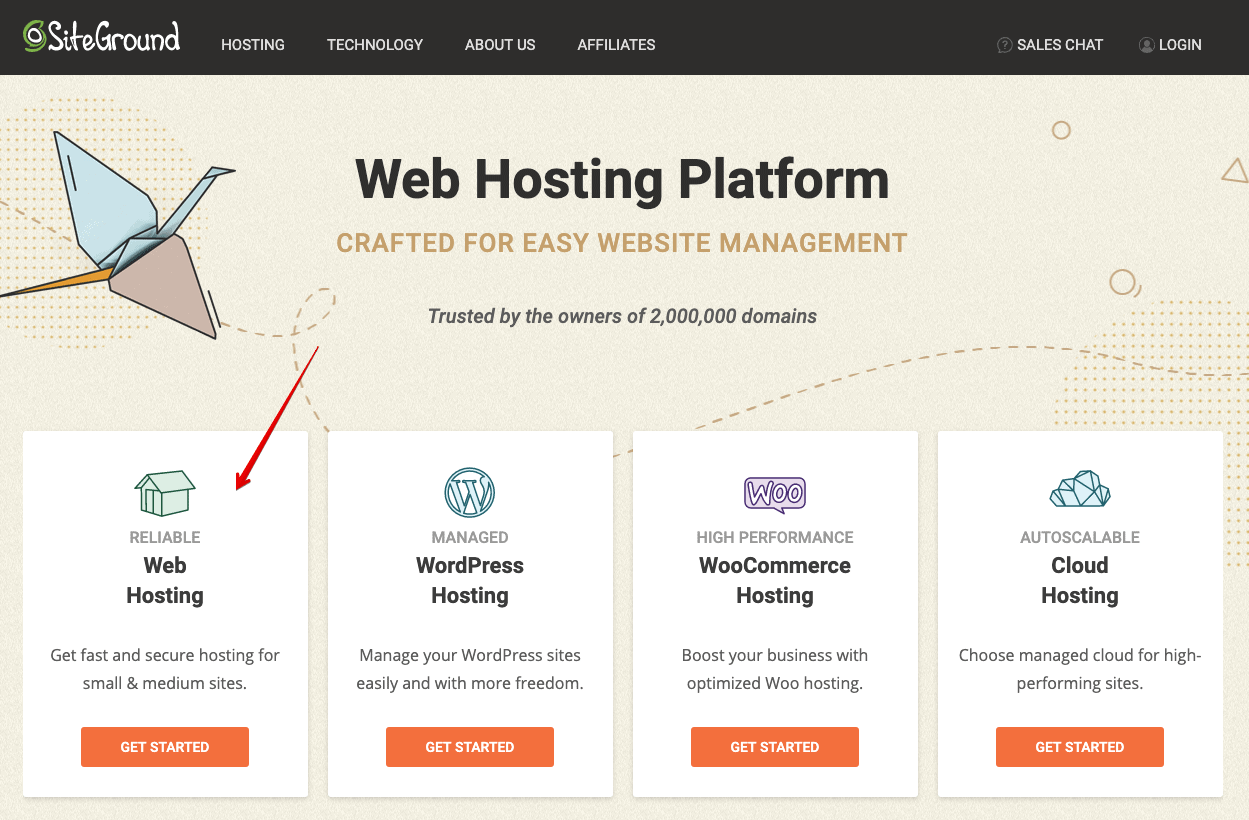choose webhosting siteground