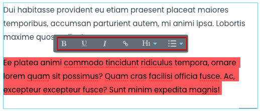 inline text editor